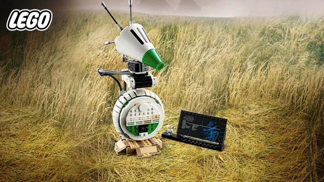 LEGO-built D-O in a grass field