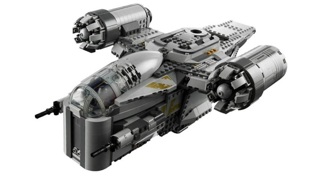 LEGO built version of the Razor Crest ship from The Mandalorian