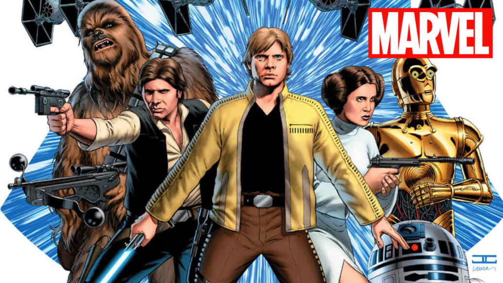 Cropped Cover to Star Wars Vol 1 Skywalker Strikes with Marvel Comics banner