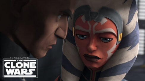 Ahsoka and Rex looking emotional