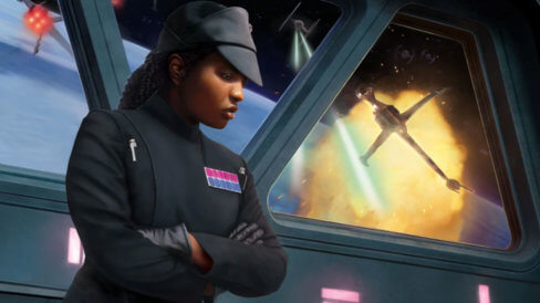 Rae Sloane at the Battle of Endor