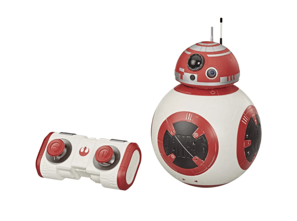 BB unit droid with red and black accents