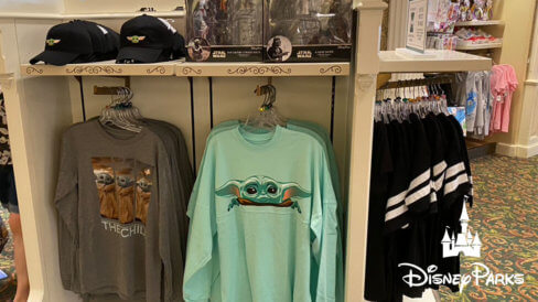 Baby Yoda merchandise at The Emporium