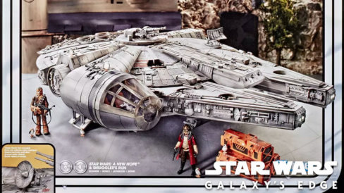 Smugglers Run edition of the Millennium Falcon from Hasbro