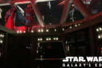 Kylo Ren intimidates the guests on Rise of the Resistance