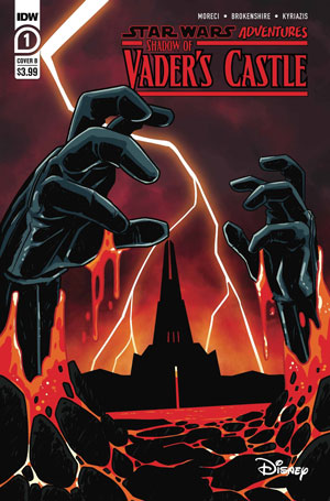 Shadow of Vader's Castle cover showing Vader's hands bursting through lava with the black castle in the background