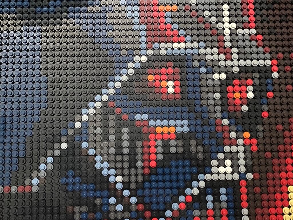 The LEGO Art The Sith Darth Vader design