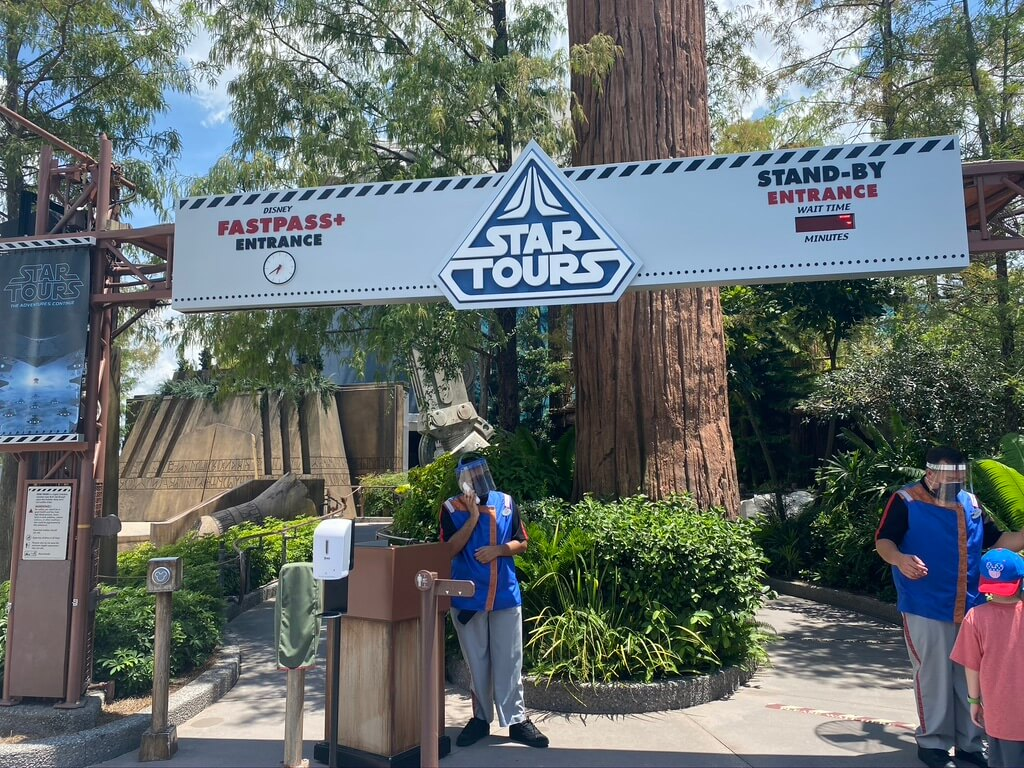 entrance to star tours at disney's hollywood studio