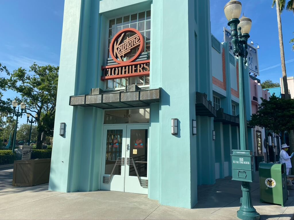 Keystone Clothiers reopened at Hollywood Studios.