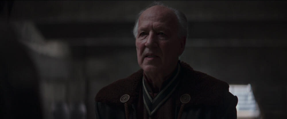 The Client expresses disappointment with the Mandalorian's question