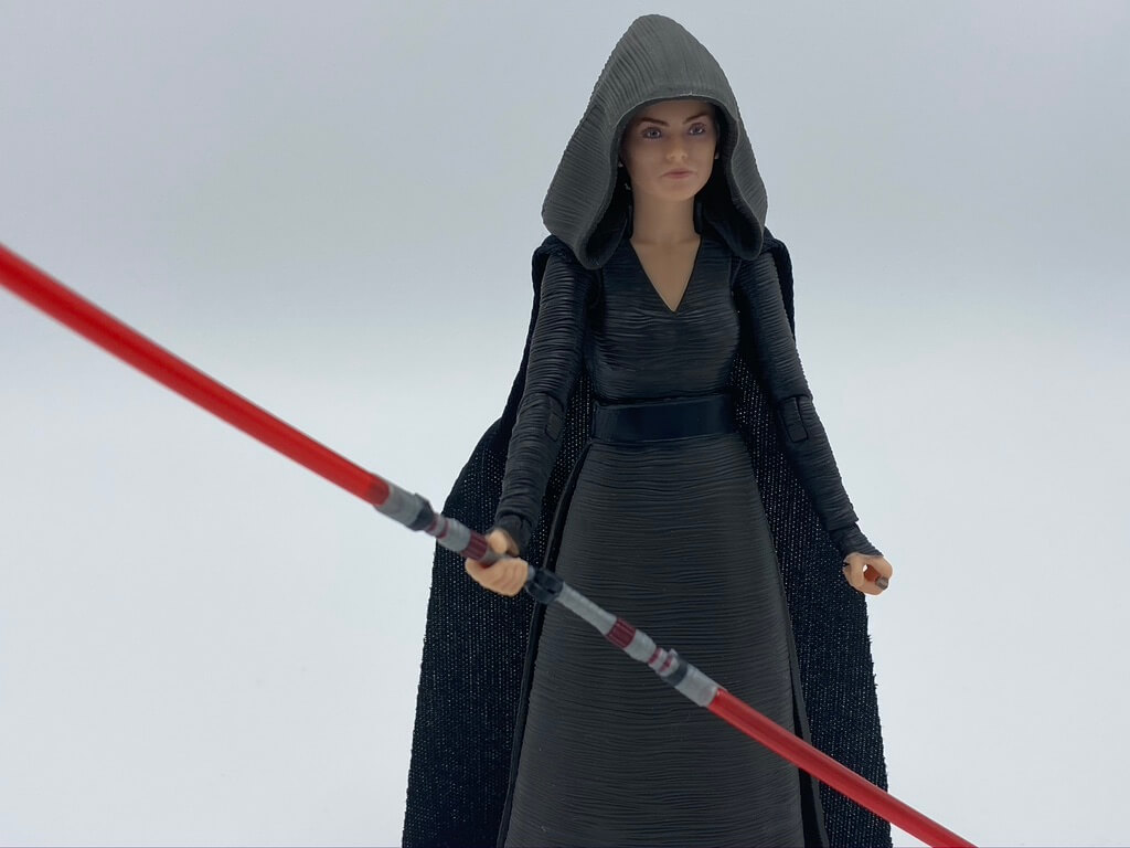 The Rey Dark Side Vision Black Series Figure features Rey as we saw her in a brief scene in The Rise of Skywalker
