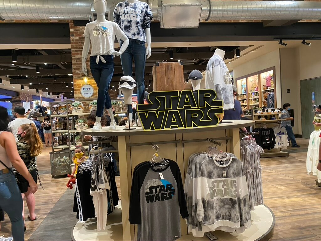 Picture Walk: World of Disney and Star Wars Trading Post. Check out the latest Star Wars merchandise.